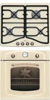 WHIRLPOOL AKM 528 JA - AKP 295 JA Rusztikus beépíthető sütő gázfőzőlap szett Jázmin fehér