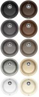 BLANCO RONDO Kerek medencés gránit mosogatótálca antracit, palaszürke, alumetál, fehér, jázmin, pezsgő, sand, tartufo, kávé